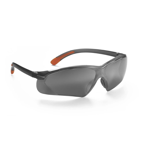 Serpent Safety Eyewear - Fully Polycarbonate / Smoke Silver Mirror Lens - Serpent-SSM
