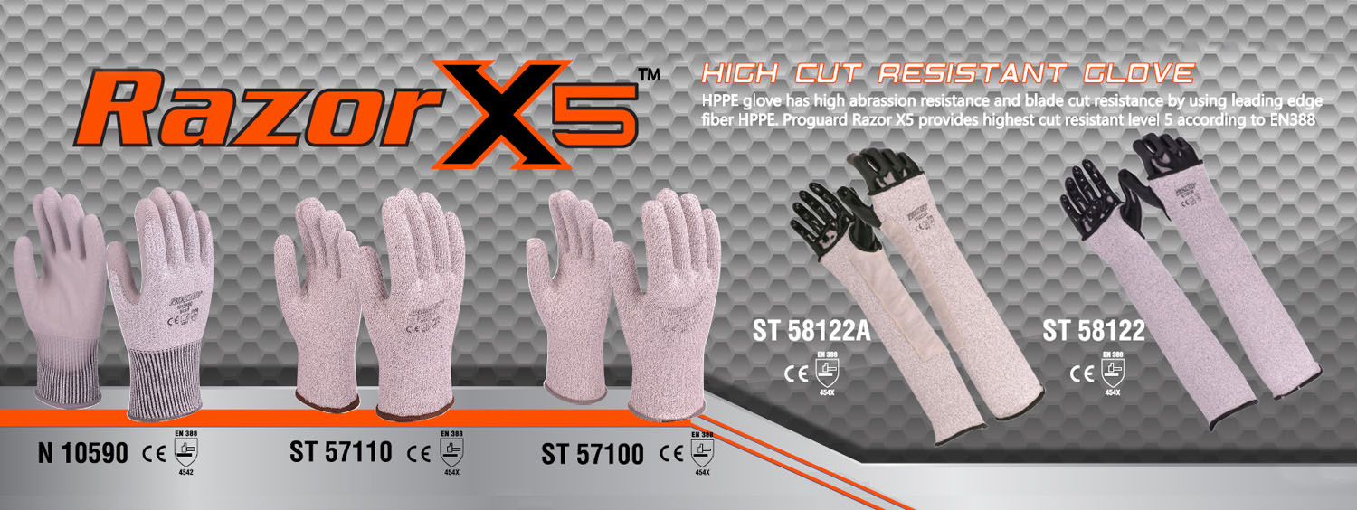 Razor X5 High Cut Resistant Glove
