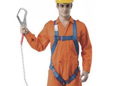 Full Body Harness Built-in Lanyard & Large Hook - BH7886-CBU-LOH